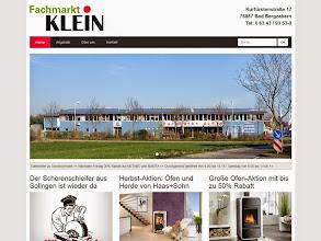 Photo: Referenz Webdesign: Fachmarkt Klein (HTML5/CSS3, responsive Design, WordPress)