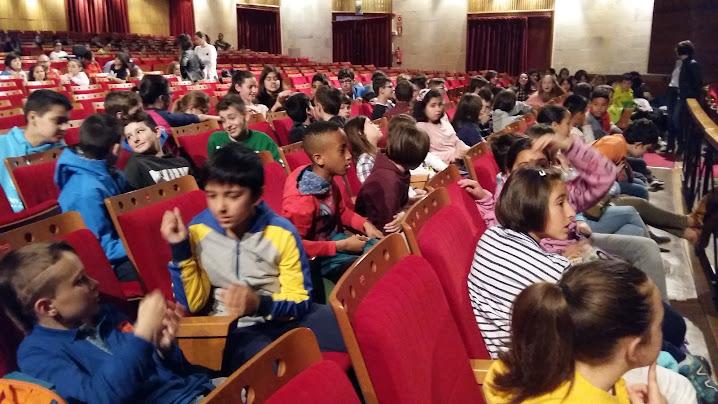 El alumnado de 5 y 6 de primaria visita el teatro de la for Teatro de la laboral