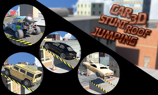 カースタント3D屋根ジャンプ