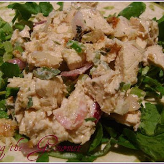 Living The Gourmet Warm Chicken Salad.