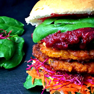 Quick & Easy Vegan Pumpkin Burgers.