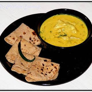 Pahari Aloo Palda from Himachal Pradesh – Potatoes Simmered in Yogurt Gravy.