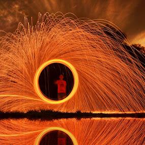 steel wool by Sarol Glider - Abstract Fire & Fireworks ( fireworks, fire, new year, dipawali, diwali, 2014 )