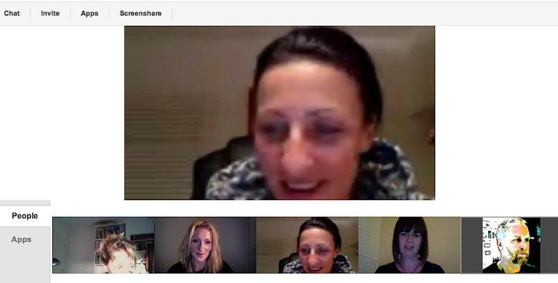 Photo: G+ Hangout screenshots 12 April 2012