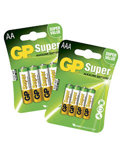 Batteri, 4-pack GP Super