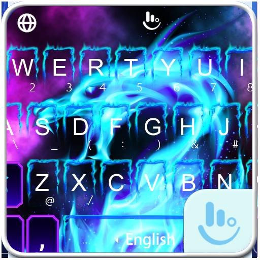 Hell Fire Dragon Keyboard Theme