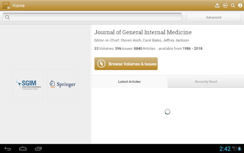 Journal of General Internal Medicine- screenshot thumbnail