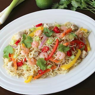 Thai Chicken and Shrimp Noodles.