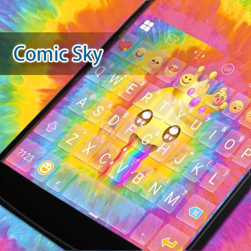 Happy TieDye Emoji Keyboard 遊戲 App LOGO-硬是要APP