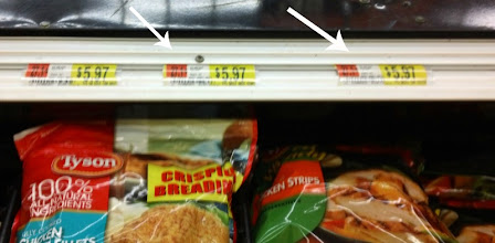 Photo: I was surprised to see that the Tyson Grilled & Ready Frozen Chicken strips were the same price as the other Tyson Chicken varieties. For some reason, I had assumed that they would be more expensive, but they were not.