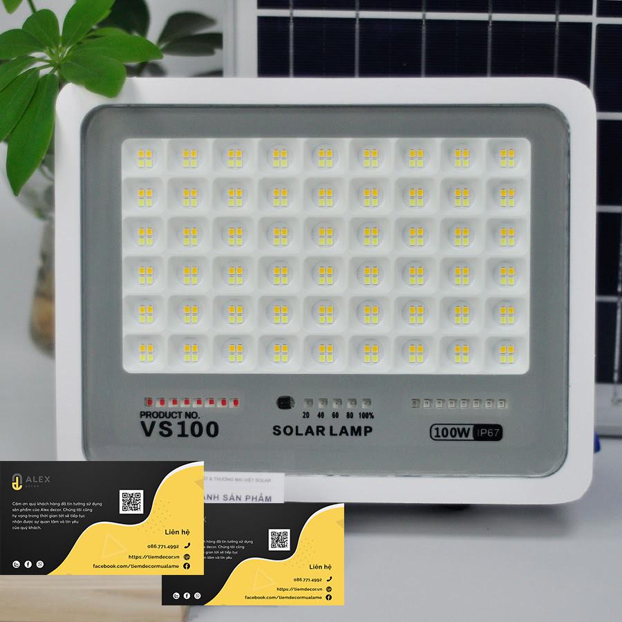 mẫu đèn năng lượng mặt trời trong nhà 50W Tiệm Decor
