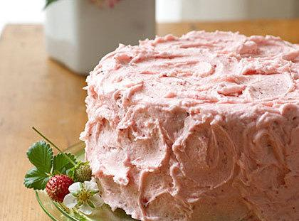 Chocolate Malted Cake W/ Strawberry Malt Frosting Recipe