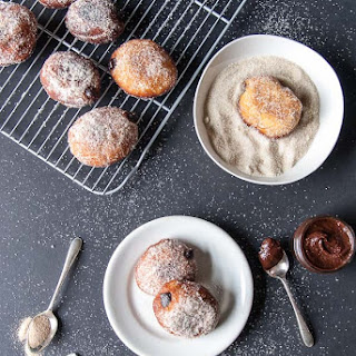 Vegan Nutella Filled Doughnuts