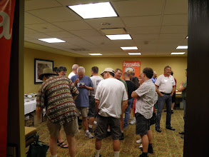 Photo: The Iwata room during the Meet & Greet Friday night.