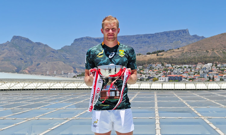 Philip Snyman, captain of South Africa during the 2017 HSBC Cape Town Sevens Captains group picture at Cape Town Stadium on 5 December 2017.
