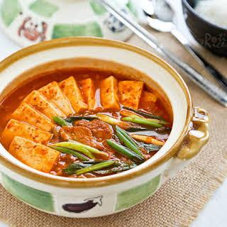 Kimchi Jjigae (Kimchi Stew).