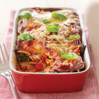 Chicken And Vegetable Lasagne.