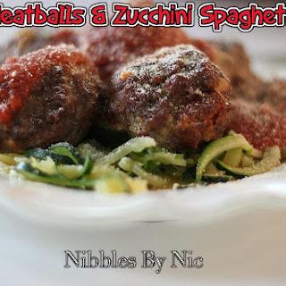 Meatballs & Zucchini Spaghetti