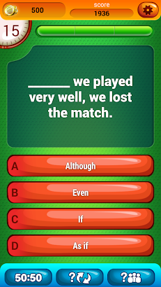 English Grammar Test Level 2 screenshot