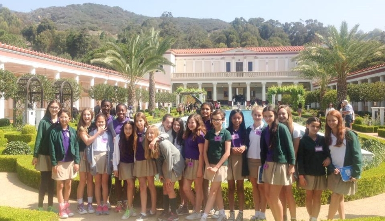 Students from The Archer School for Girls in Los Angeles, CA