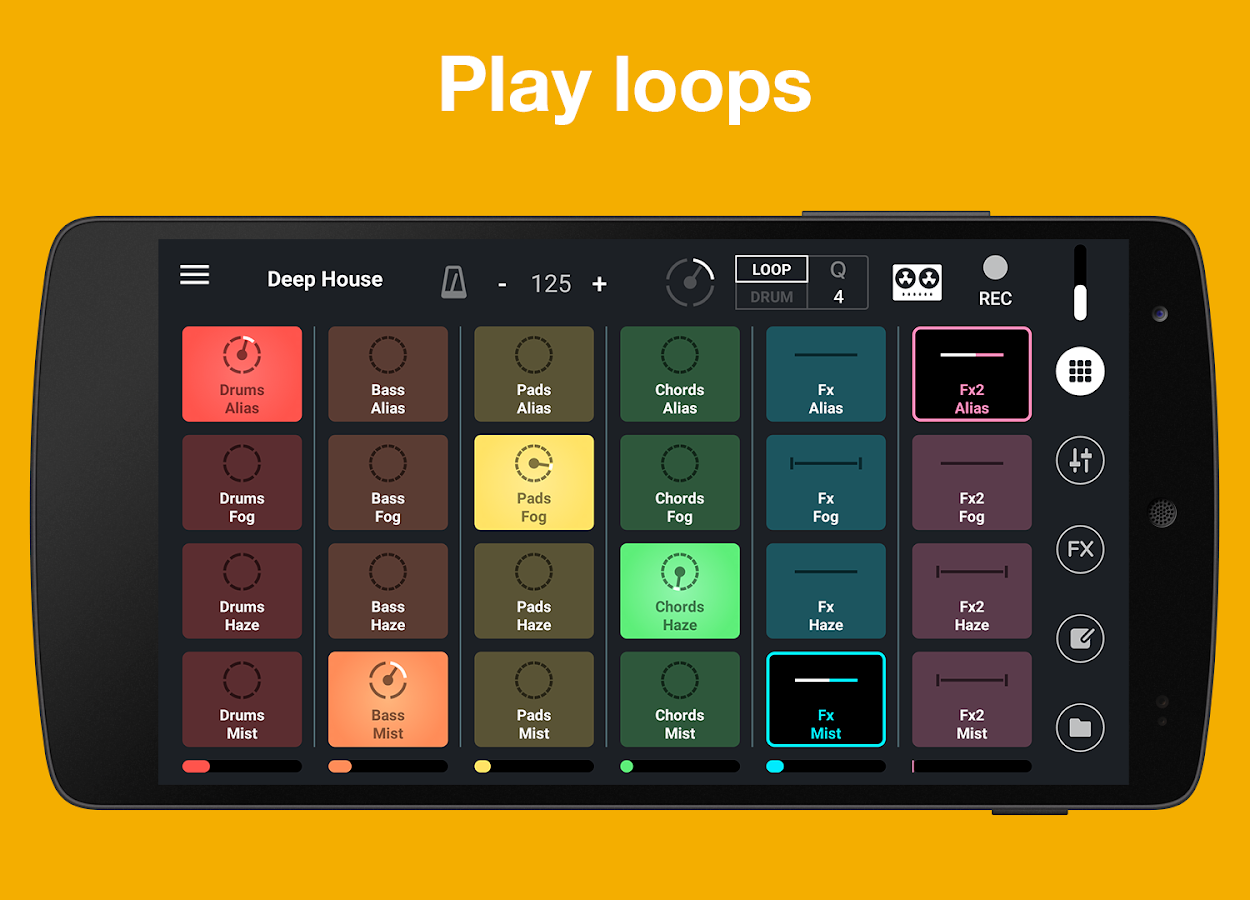 remixlive drum play loops android apps on google play. Black Bedroom Furniture Sets. Home Design Ideas