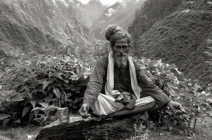 Himalayan! by Rohit Chawla - People Portraits of Men ( religion, hindu, himalaya, cosurvivor, meditate, india, ascetic, sadhu, portrait, man )