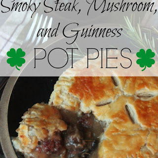 Smoky Steak Mushroom and Guinness Pot Pies
