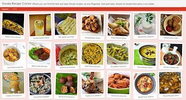 Screenshot of Kerala Recipe Corner