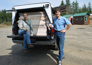 Photo: All the sandwich panels fit into the back of Mr. Dill's truck.