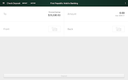 First Republic Mobile Banking- screenshot thumbnail