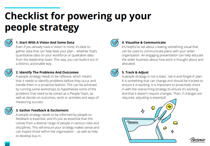 Checklist for powering up your people strategy