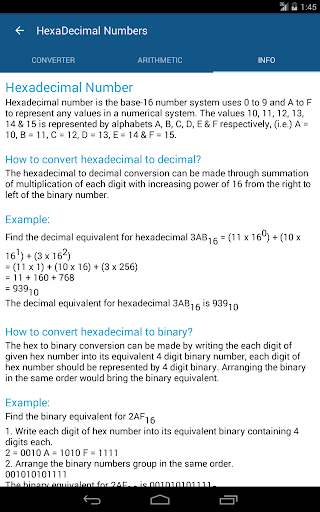 Binary, Decimal, Hex & Octal Numbers Conversion by Appsplug Software