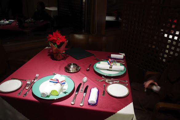 レイクサイドヴィラ翠明閣でのクリスマスディナー