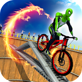 Death Well Superhero Bicycle Stunt Rider