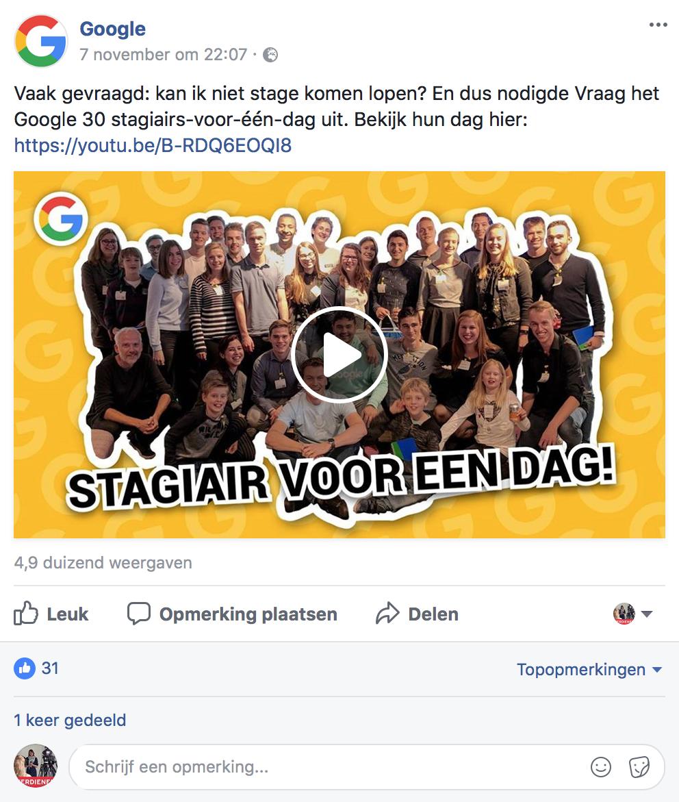 Native video op Facebook