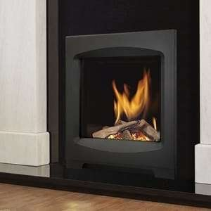 An installed verine fireplace