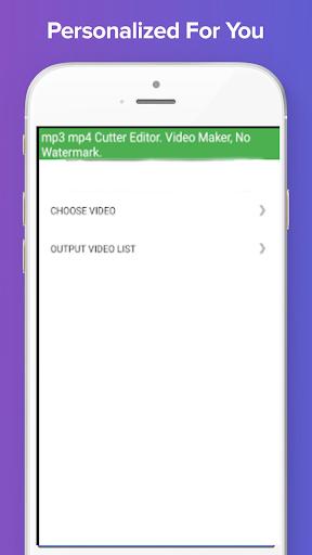 mp3 mp4 Cutter Editor. Video Maker, No Watermark. 1.10 screenshots 12