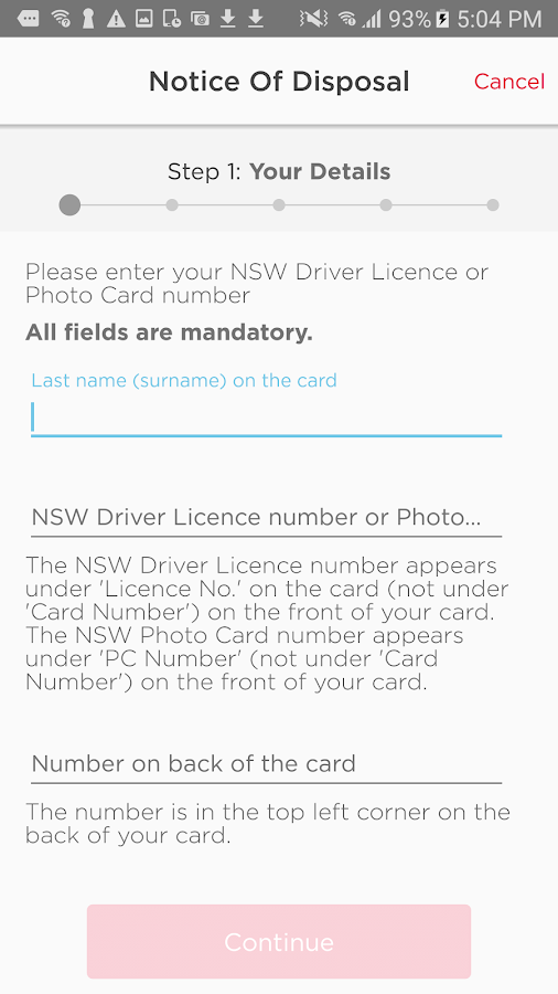 Service NSW- screenshot