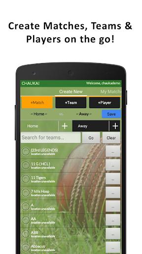 Chauka Cricket Scoring App 2.10 screenshots 2