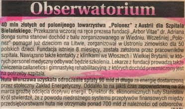 Photo: OBSERWATORIUM CODZIENNE (Warszawa) z 21 marca 1992 r.