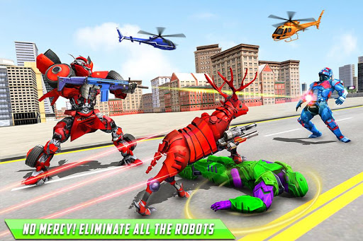 Deer Robot Car Game u2013 Robot Transforming Games apktram screenshots 2