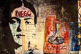 Foto: Frida, Diego in mind - Particolare del quadro -  48x71cm  Serigrafia su stampe di pagine di diario di Frida Kahlo  DISPONIBILE  Per informazioni e prezzi: manualedelrisveglio@gmail.com