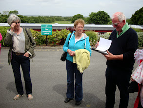 Photo: Kathy Trant, Liz Dignam and Harry Meyers all assembled. Happy to report there was no fire.