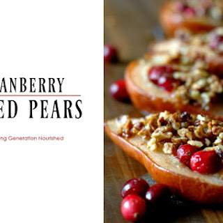 Cranberry Baked Pears