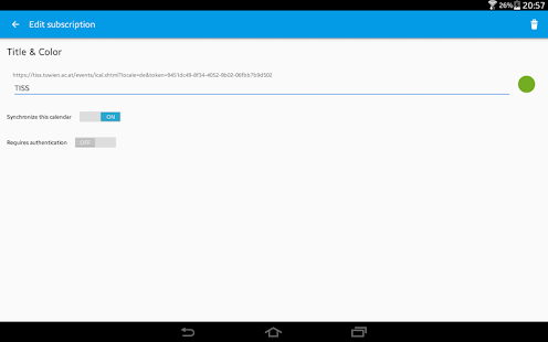 ICSdroid – sync Webcal/.ics- screenshot thumbnail