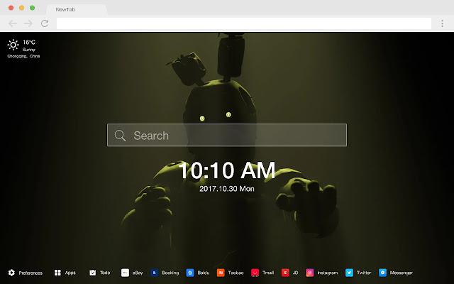Fnaf new tab page HD pop thriller theme