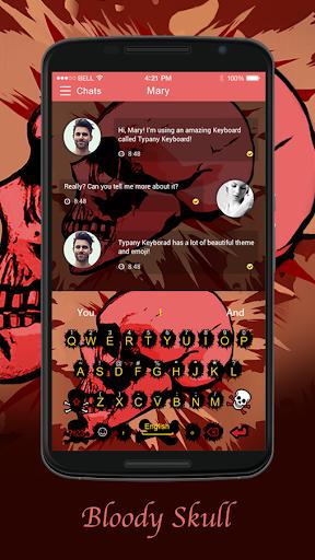 mod Bloody Skulls Typany Theme 4.5 screenshots 1