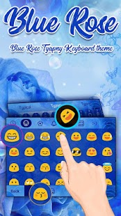 Blue Rose Theme&Emoji Keyboard - náhled