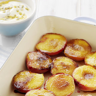 Grilled Nectarines with Passionfruit Yogurt.