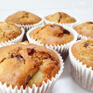 Apple, Chocolate Chip & Cinnamon Muffins.